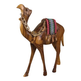 Mid-Century Hand Carved Camel
