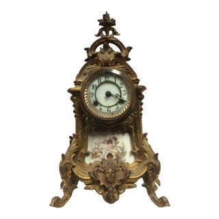 Antique Porcelain French Clock