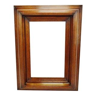Large Vintage Wood Framed Beveled Mirror