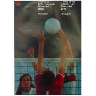 1976 Montreal Olympics Volleyball Poster