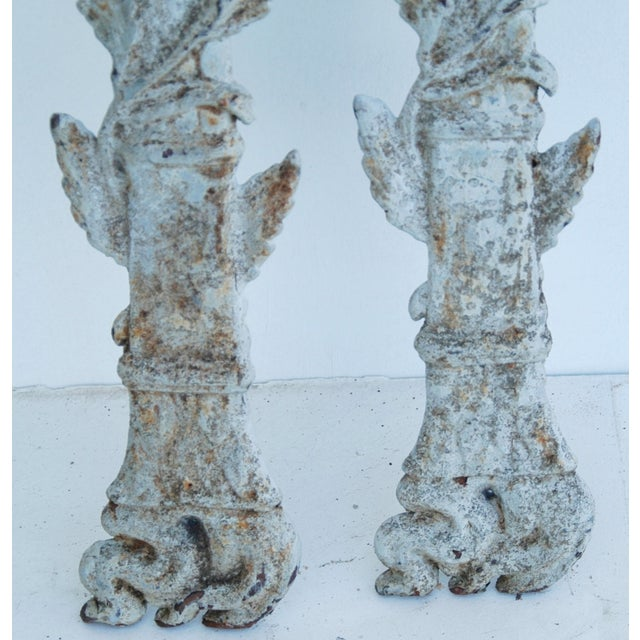 19th C. French Architectural Iron Details - Pair - Image 10 of 11