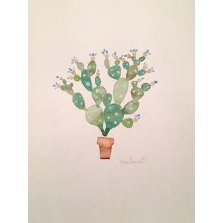 Original Cactus Watercolor