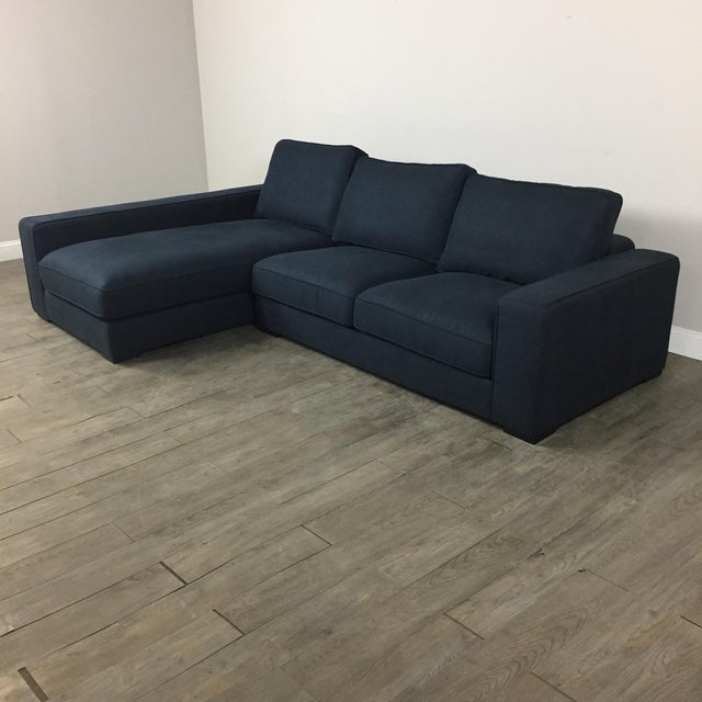 Modern Navy Sectional Sofa - Image 3 of 8