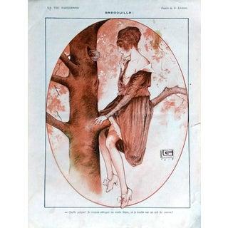 """G. Leonnec 1917 La Vie Parisienne """"Bredouille!"""" Print"""