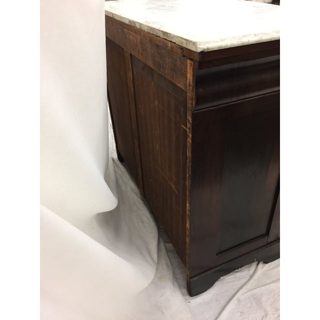 Image of Antique Marble Top Chest of Drawers