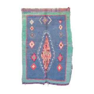 "Vintage Boucherouite Moroccan Rug - 4'8"" x 7'3"""