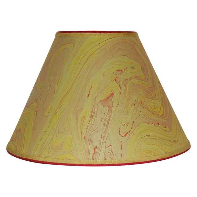 Olive & Red Marble Lampshade - Image 1 of 4