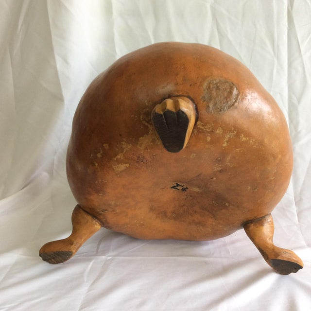 Footed Gourd Bowl - Image 4 of 4
