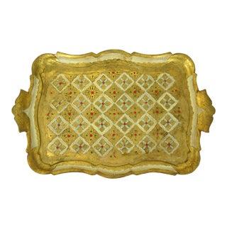Florentine Cream & Gold Tray