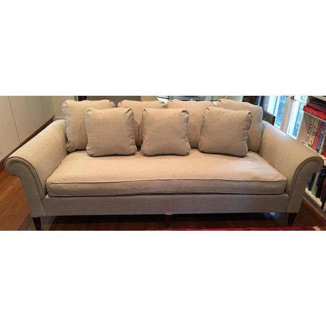 Image of 1970s Linen Sofa