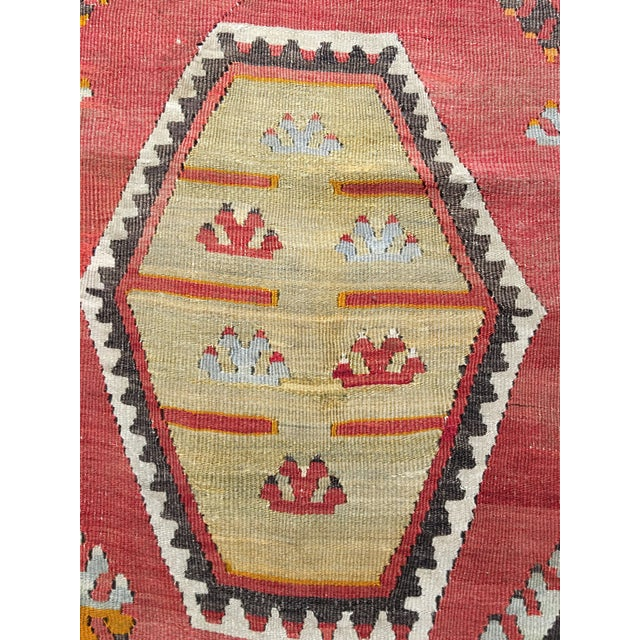 "Vintage Turkish Kilim Rug- 7'7"" x 11'7"" - Image 6 of 8"