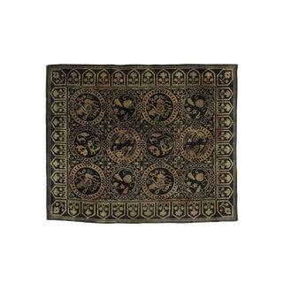 "Leon Banilivi Green Nepalese carpet , 7'9"" x 9'5"""