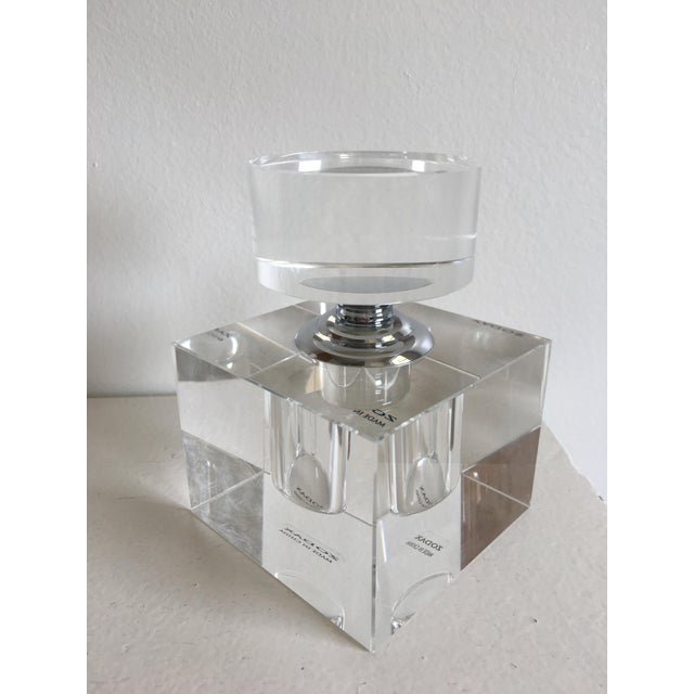 Zodax Modern Crystal Cube Perfume Bottle | Chairish