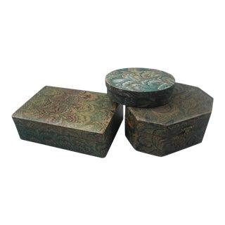 Decorative Keepsake Boxes - Set of 3