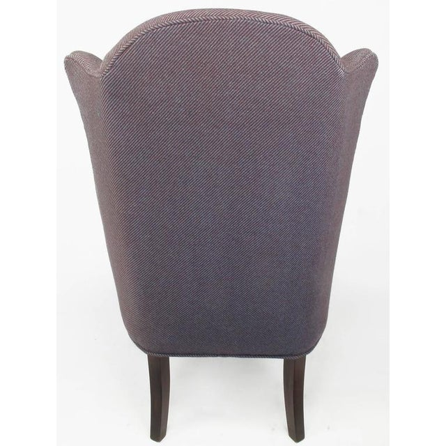 Late 1800s English Arts and Crafts Open Arm Wingback Chair - Image 4 of 7