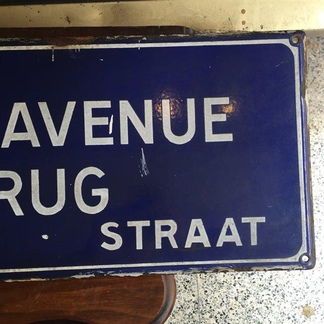 Rue Du Pont De L'Avenue Porcelain Street Sign - Image 3 of 8