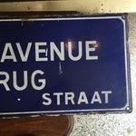 Image of Rue Du Pont De L'Avenue Porcelain Street Sign