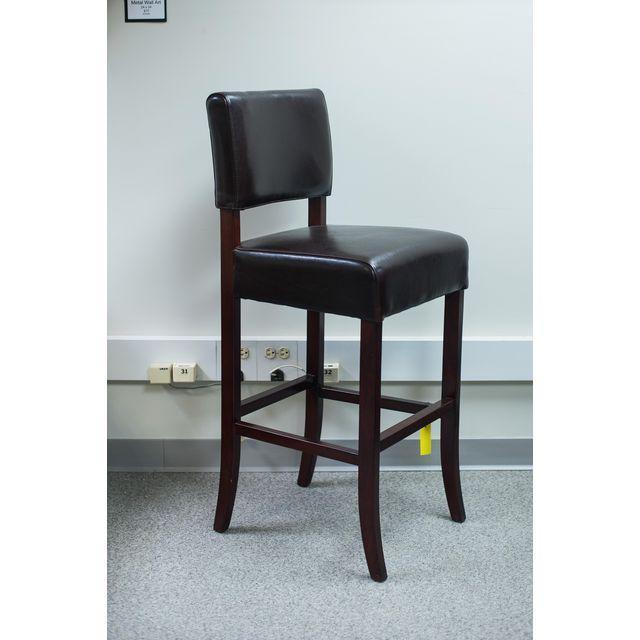 Palacek Brown Leather Bar Stools Set Of 4 Chairish