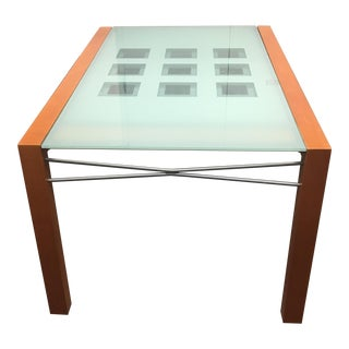 Ligne Roset Extensia Cherry & Glass Dining Table