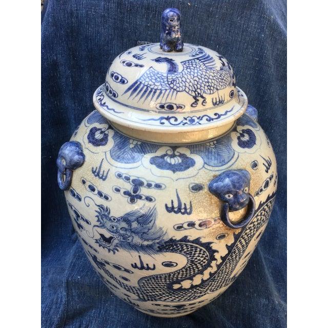 Chinese Foo Dog/Dragon Lidded Urn - Image 3 of 9