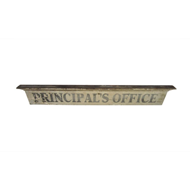 Vintage Wooden Principal's Office Sign - Image 2 of 5