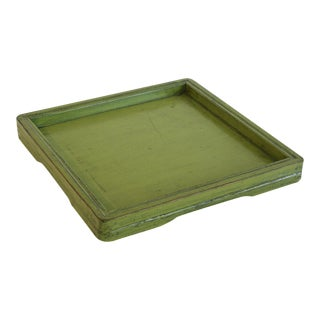 Lacquered Chartreuse Wood Tray