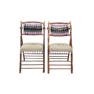 MacKensize Child Style Bamboo Chairs, Pair