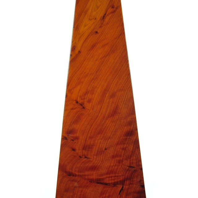 19th C. Large Burl Walnut Obelisks - A Pair - Image 5 of 9