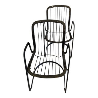 Willy Rizzo Cidue Italian Retro Mod Chairs - A Pair