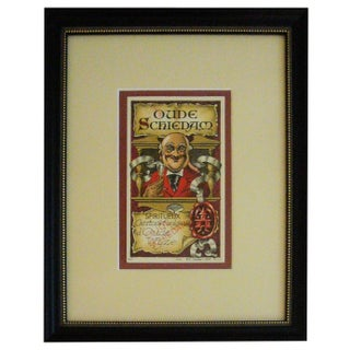 Framed French Vintage Wine Label Oude