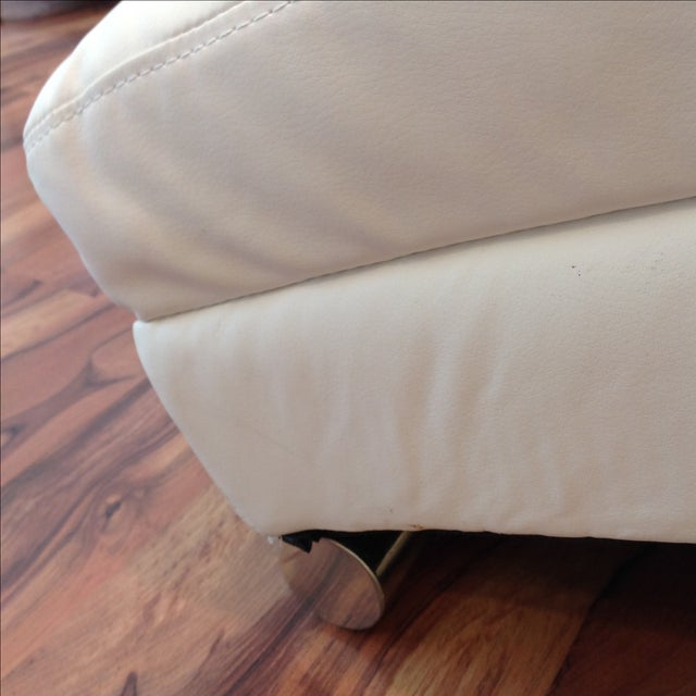 White Chaise Lounge - Image 4 of 7