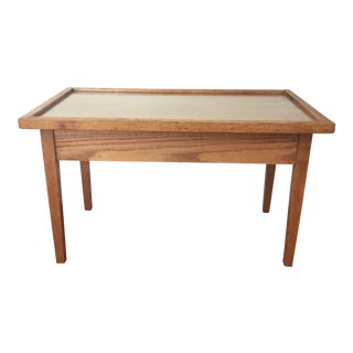 Vintage Modern Oak & Glass Coffee Table