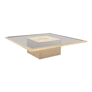 George Matthias Brass Etched Coffee Table