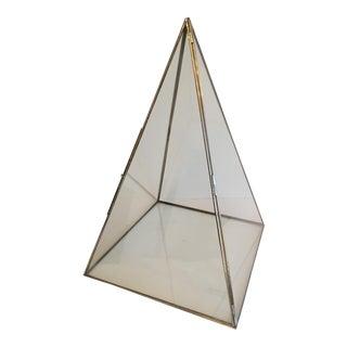 Pyramid Terrarium Glass Display Box