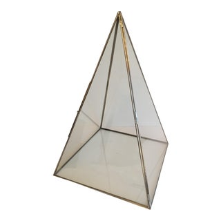 Pyramid Terrarium Glass Display Box