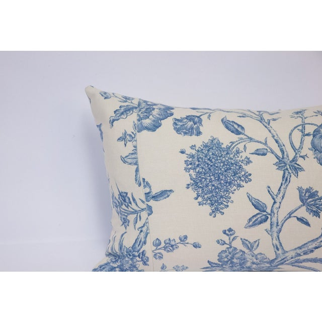 Deconstructed Cream & Blue Floral Pillow - Image 4 of 5