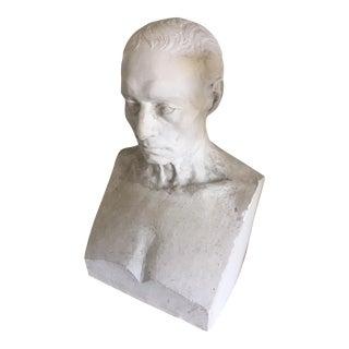 Vintage Plaster Bust of a Man
