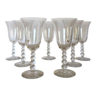 Imperial Candlewick Beaded Stem Glasses - Set of 7