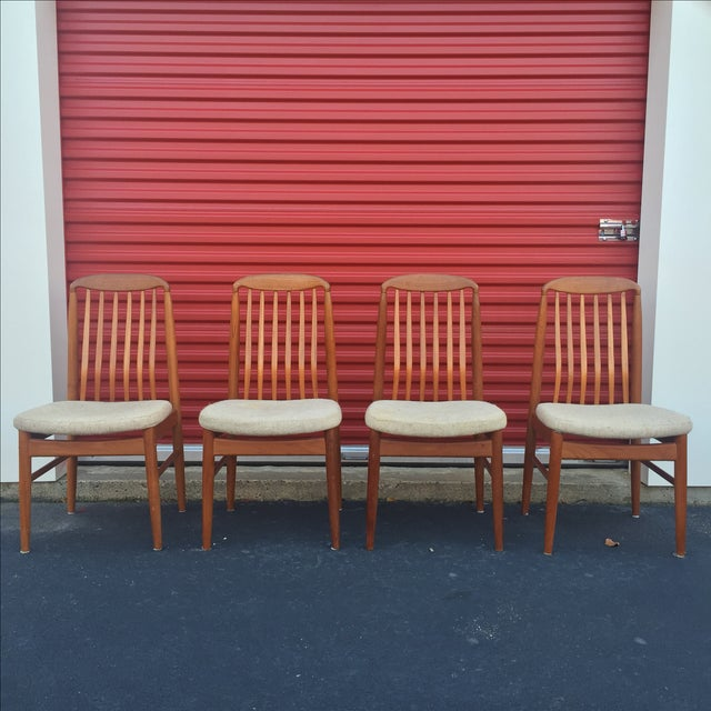 Danish Modern Style Teak Dining Chairs - Set of 6 - Image 5 of 11