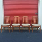 Image of Danish Modern Style Teak Dining Chairs - Set of 6