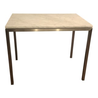 Room & Board Portica White Ventatino Marble Top End Table