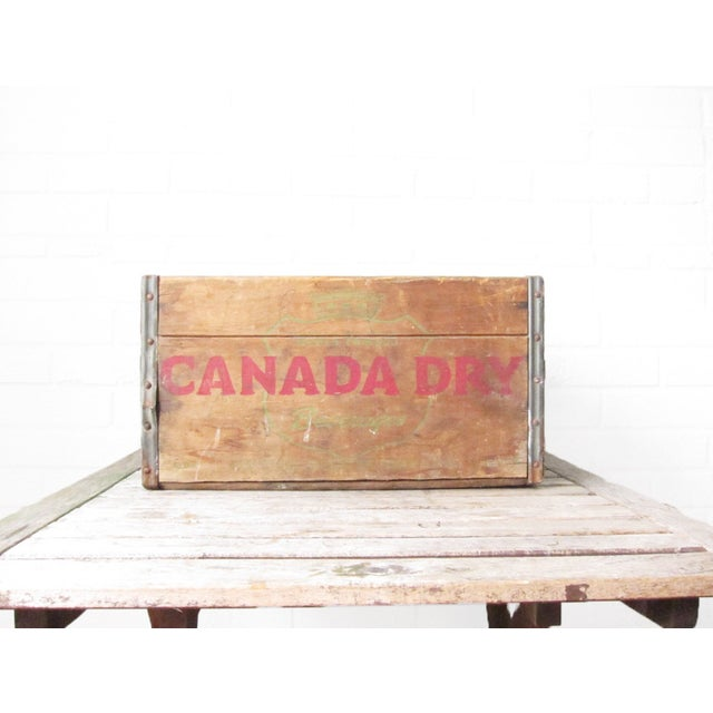 Vintage Canada Dry Crate - Rustic Wood Box - Image 4 of 5
