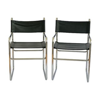 Tubular Chrome Armchairs - A Pair