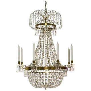 Empire 8 Cognac Octagon Chandelier