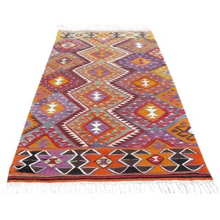 Vintage Turkish Kilim Rug - 4′6″ × 7′6″
