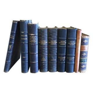 Antique Danish Books - Set of 9