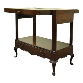 Vintage Queen Anne Style Mahogany Expanding Serving Table