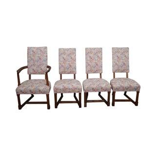 Antique Jamestown Oak Dining Chairs - Set of 4