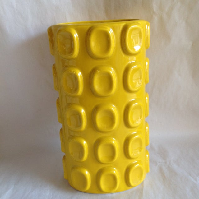 Image of Modern Yellow Ceramic Vase