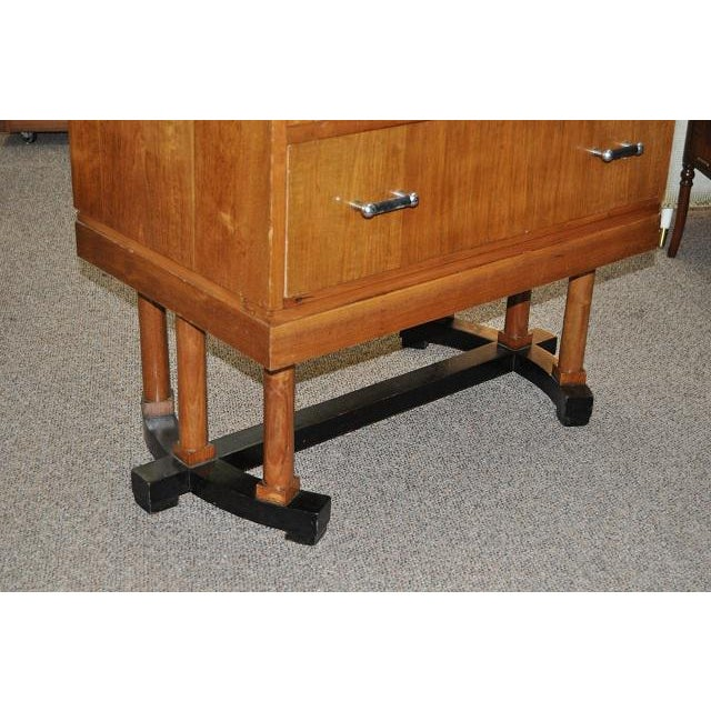 1930's Art Deco Drop Front Desk - Image 7 of 9
